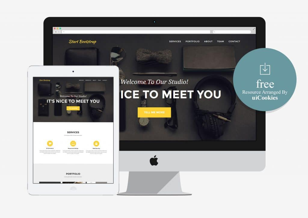 Agency - One page Bootstrap Portfolio Theme for small Business