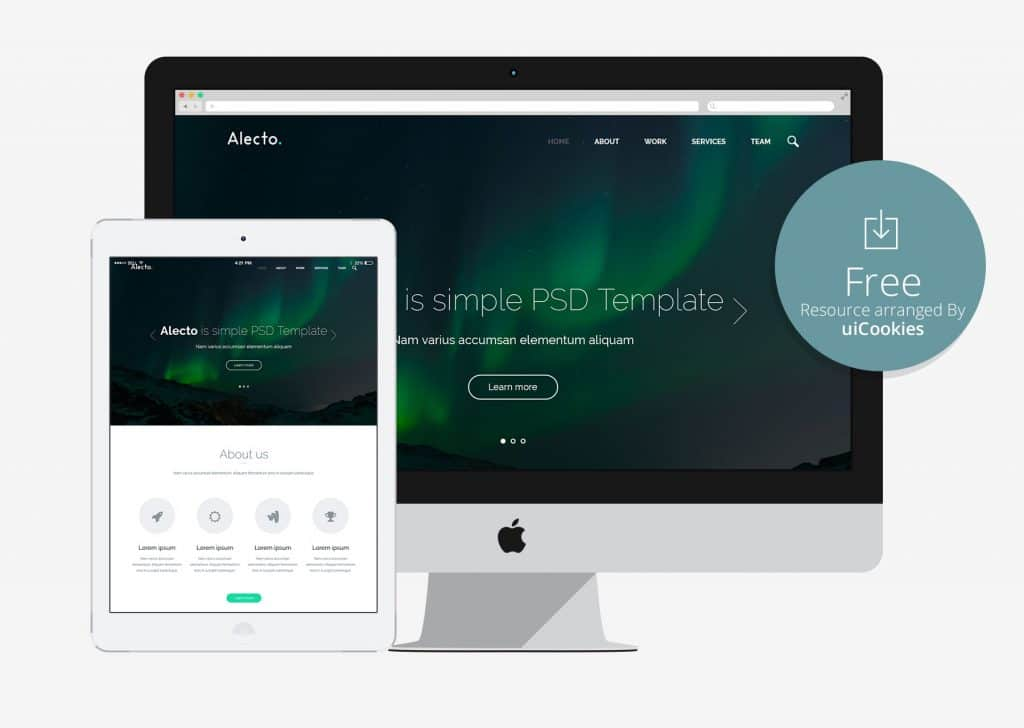 Alecto - Free Responsive HTML5 CSS3 template