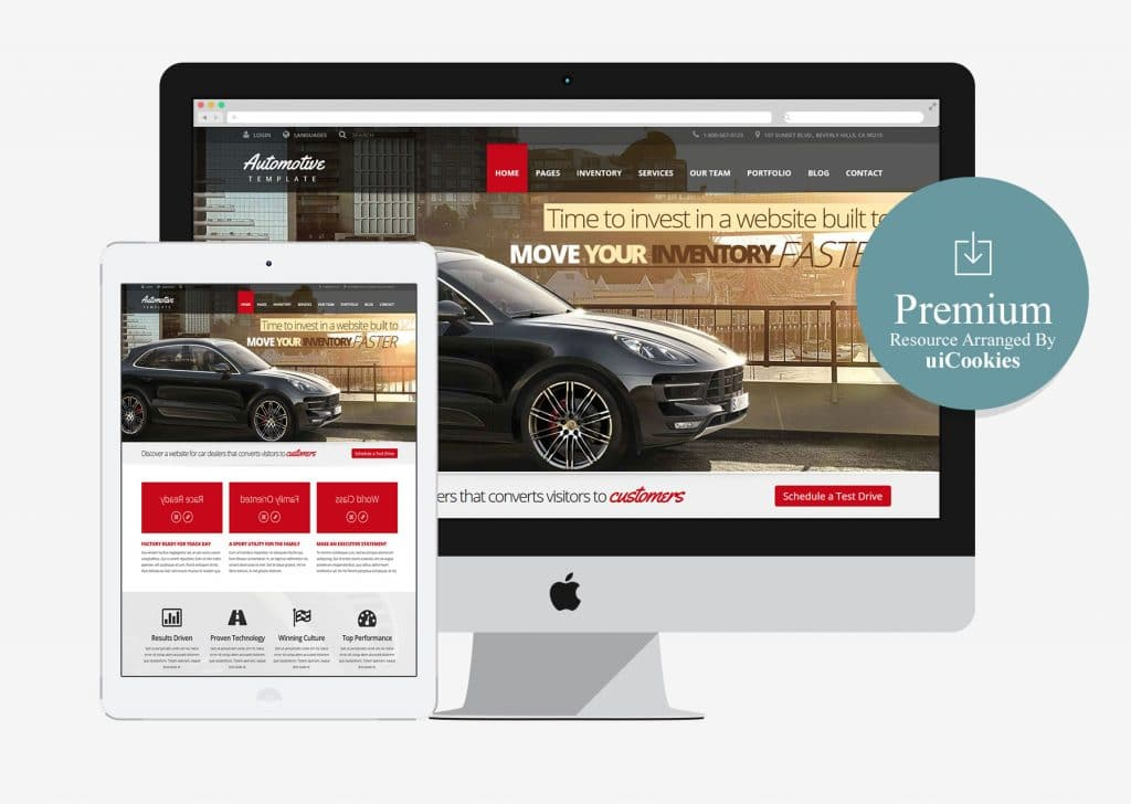 Automotive Car Dealership & Business HTML Template-(Premium)