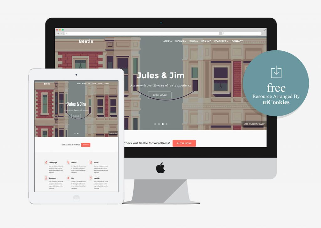 Beetle – Bootstrap HTML5 Template for Designers