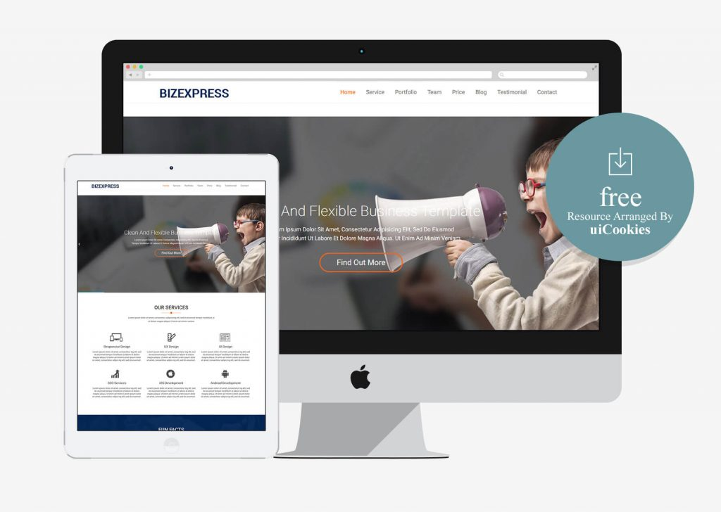 BizExpress - Free One-Page Bootstrap HTML5 Template for Business Agency