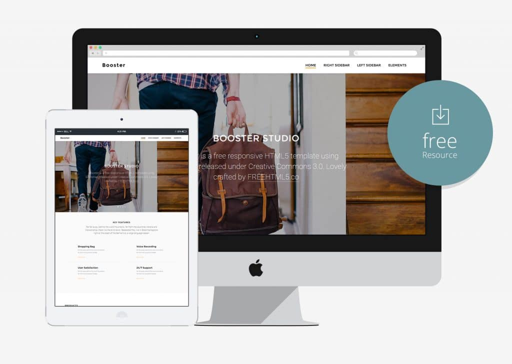 Booster – Free HTML5 Bootstrap Template