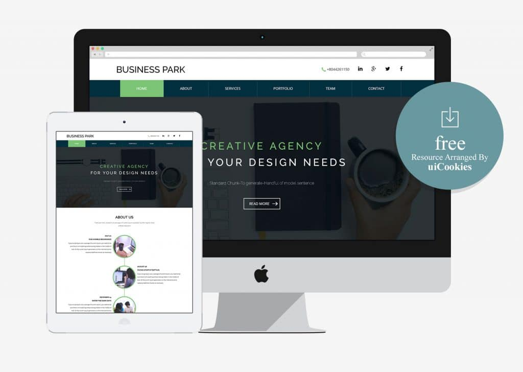 Business Park – Free Corporate Flat Bootstrap Responsive Web Template