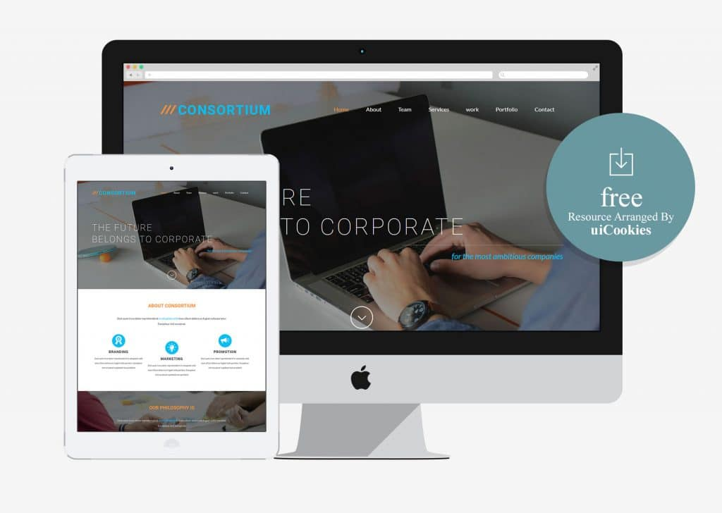 Consortium – Free Corporate Business Bootstrap HTML5 Web Template