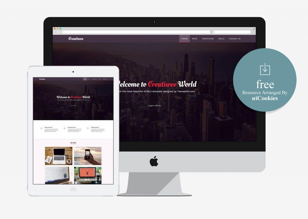 Creatiwee - Free Responsive HTML5 Website Template