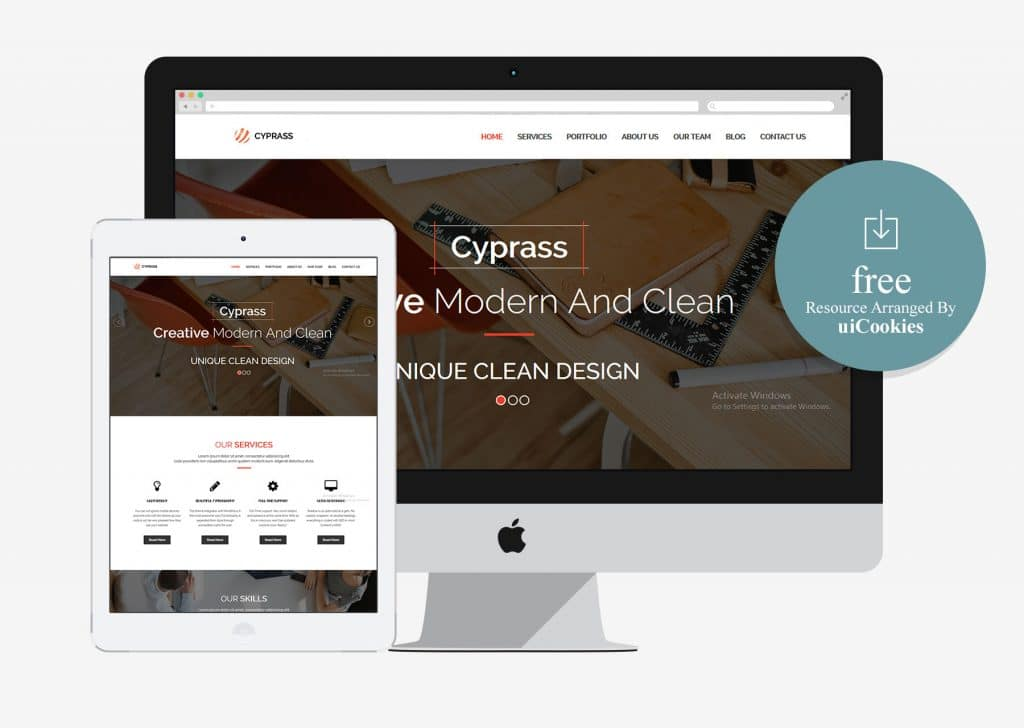 Cyprass - Bootstrap HTML5 Responsive Business Template