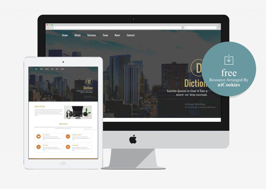 Diction - Free Bootstrap HTML5 CSS3 Responsive Web Template