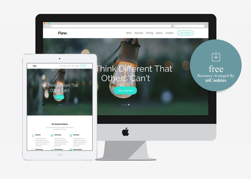 Flew - Free Bootstrap Multi-purpose Business Template