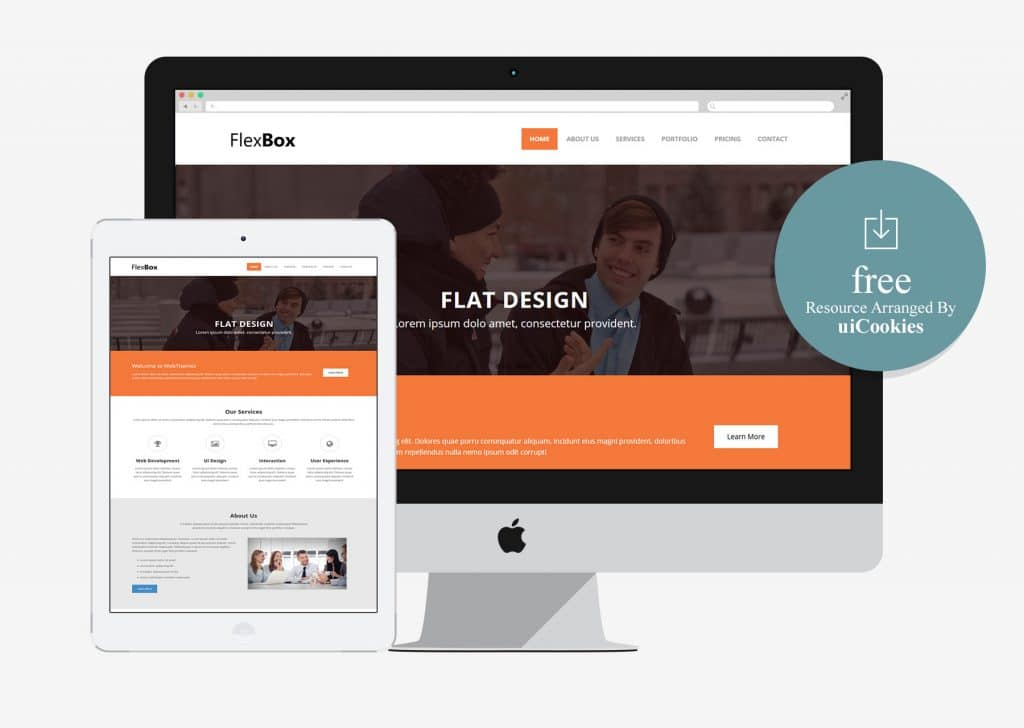 Flexbox - Corporate Free Bootstrap HTML5 Web Template