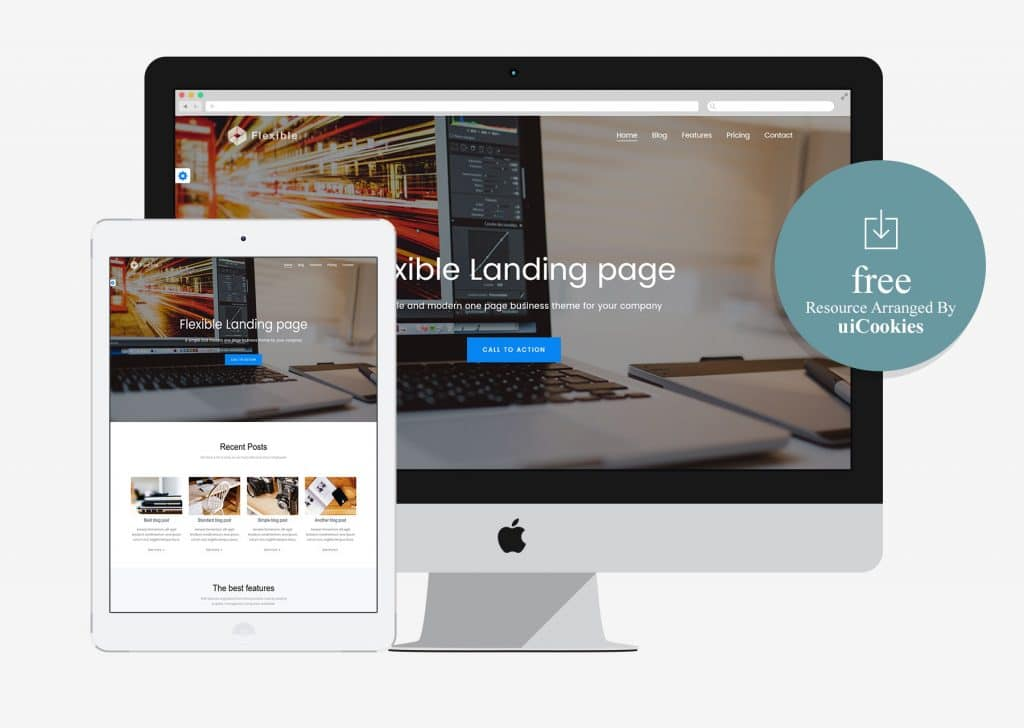Flexible – Free HTML5 CSS3 Responsive Template