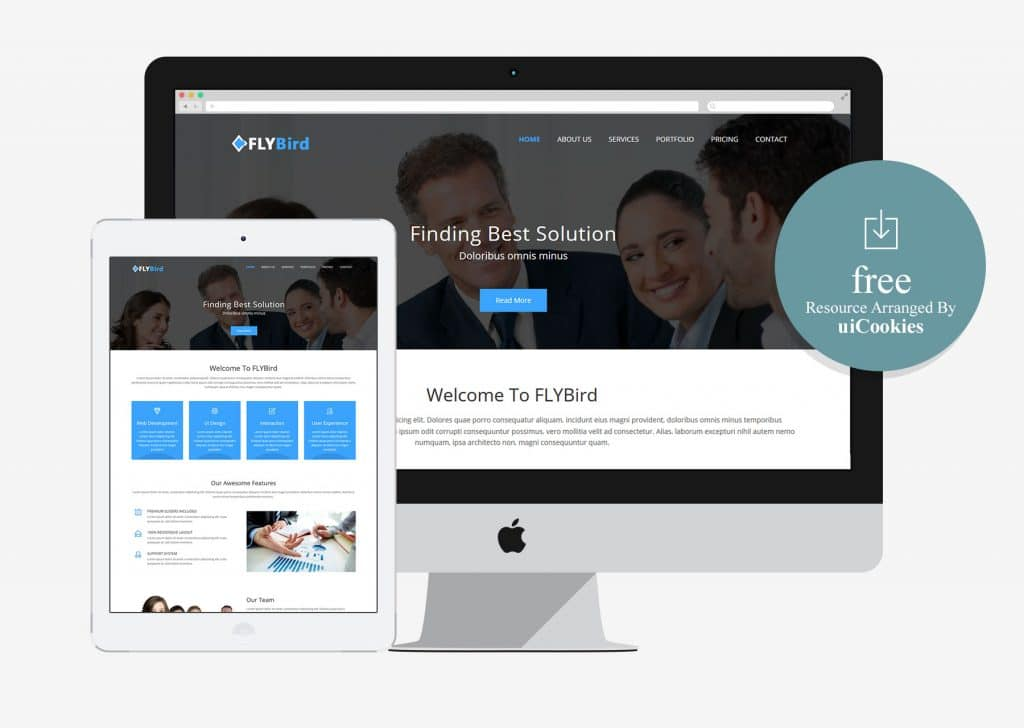 100 best free html5 bootstrap templates flybird beautiful html5 bootstrap corporate business template friedricerecipe Choice Image