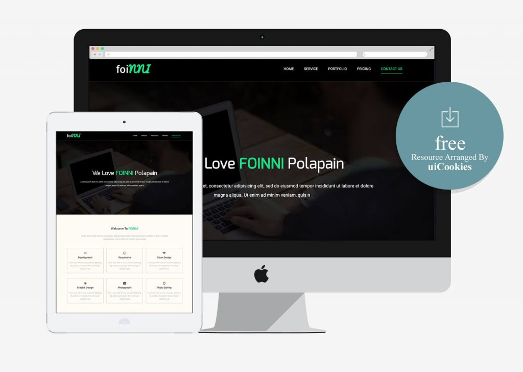 Foinni - Bootstrap One Page Free Html Template