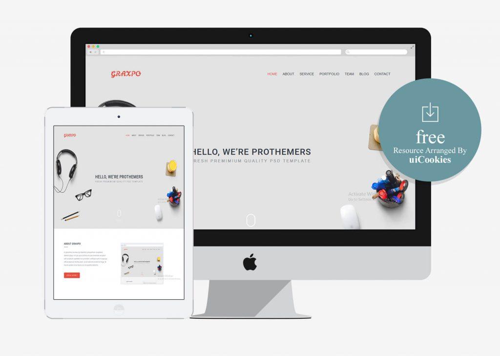 Graxpo- One Page Portfolio Template Free