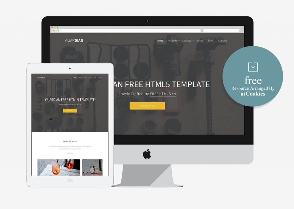 Guardian - Elgent Free HTML5 bootstrap template