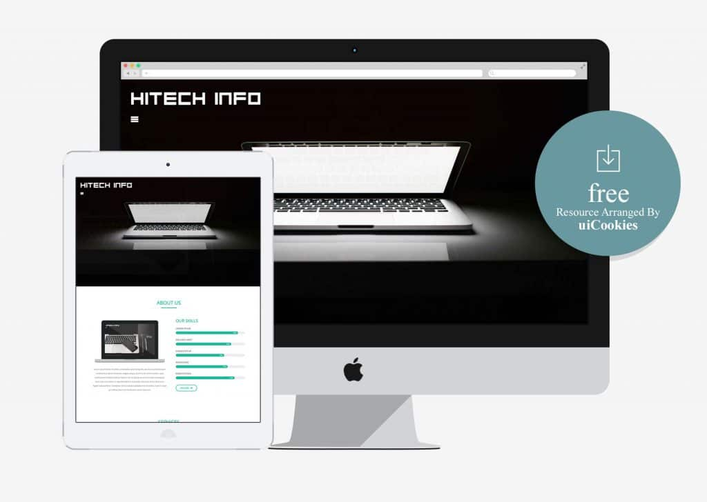 Hitech Info - Free Corporate Bootstrap Responsive Website Template