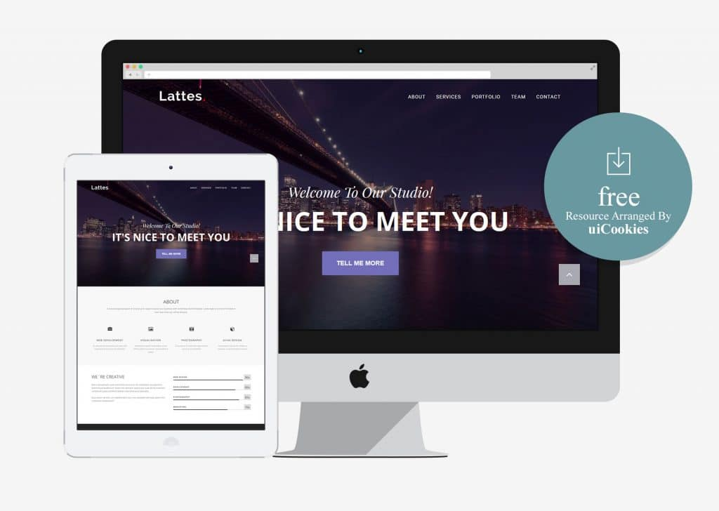 Lattes - HTML5 Responsive Bootstrap Template