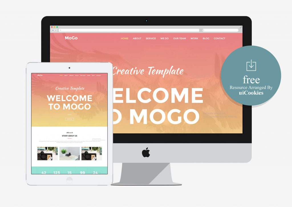 MoGo – Free Responsive HTML5 One Page Web Template