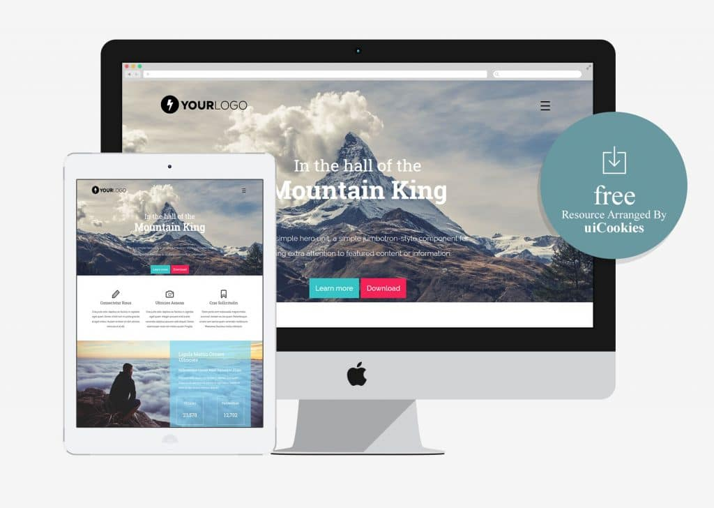 Mountain King - Free HTML Bootstrap Template
