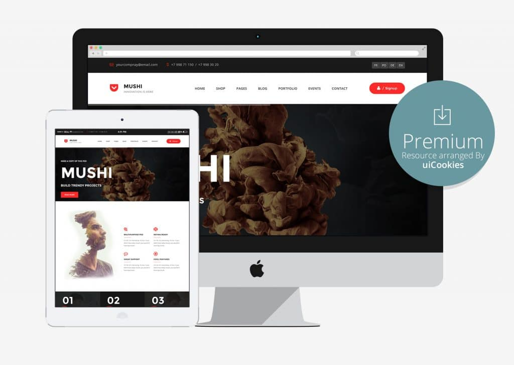 Mushi - The Multi-Purpose Responsive HTML5 Template