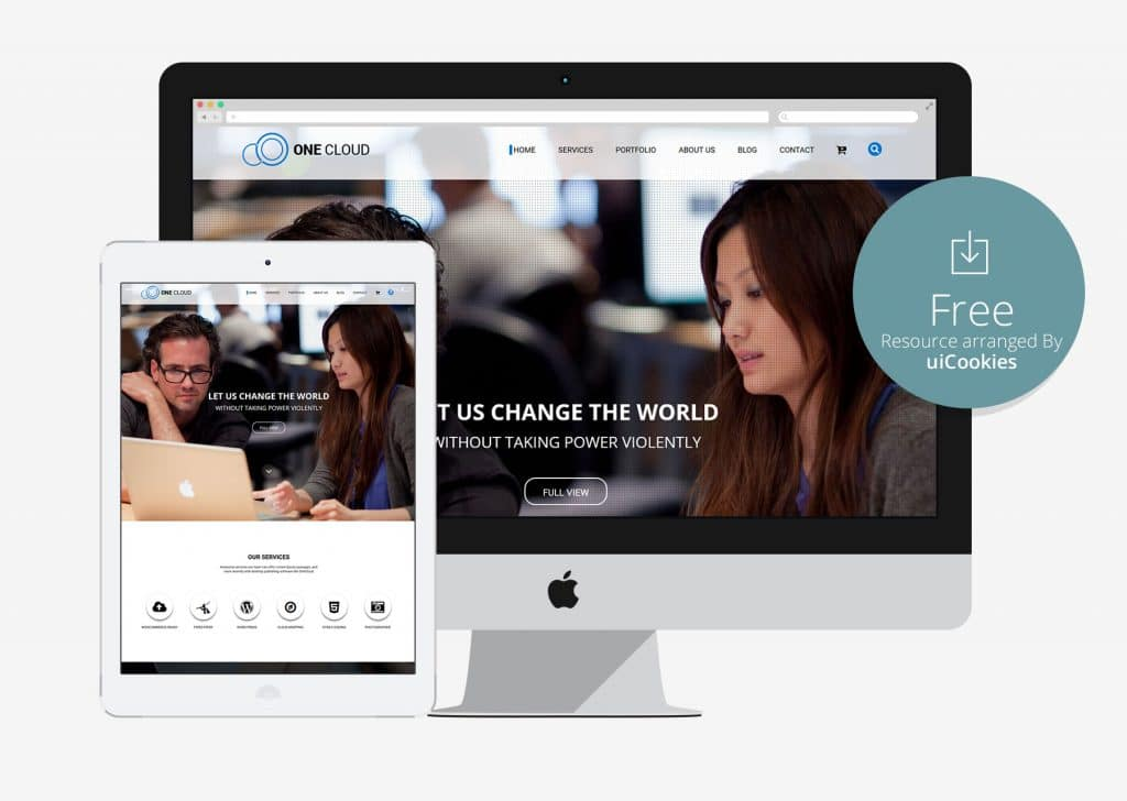 OneCloud – Elegant One Page Bootstrap Template