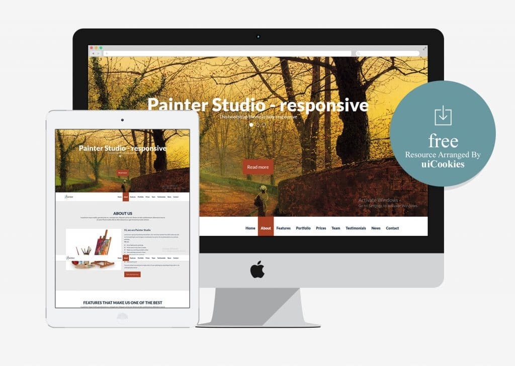 Painter studio - Minimal Bootstrap Business Template