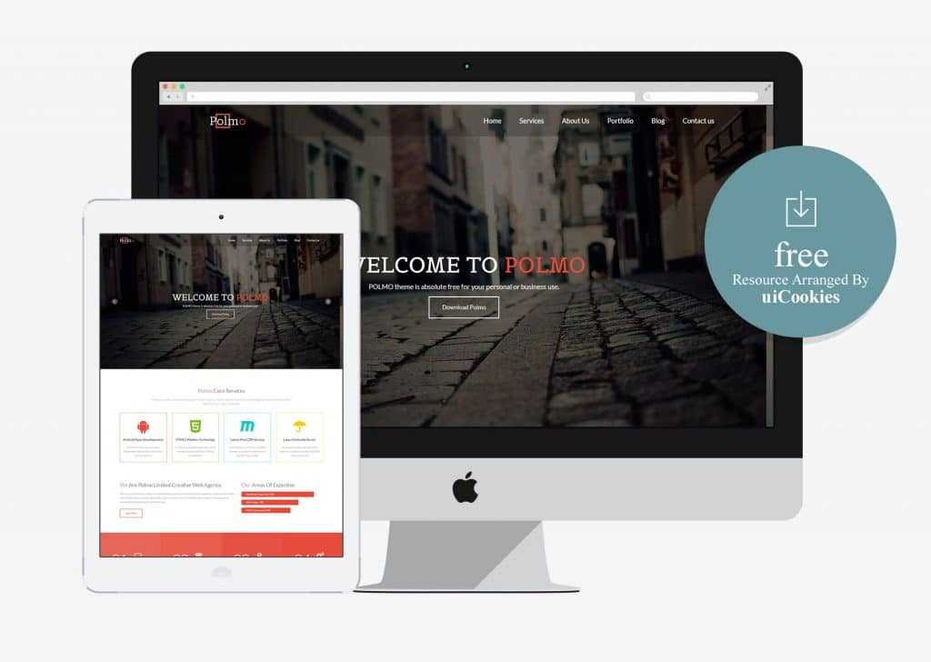 Polmo – One Page Free HTML5 Responsive Website Template