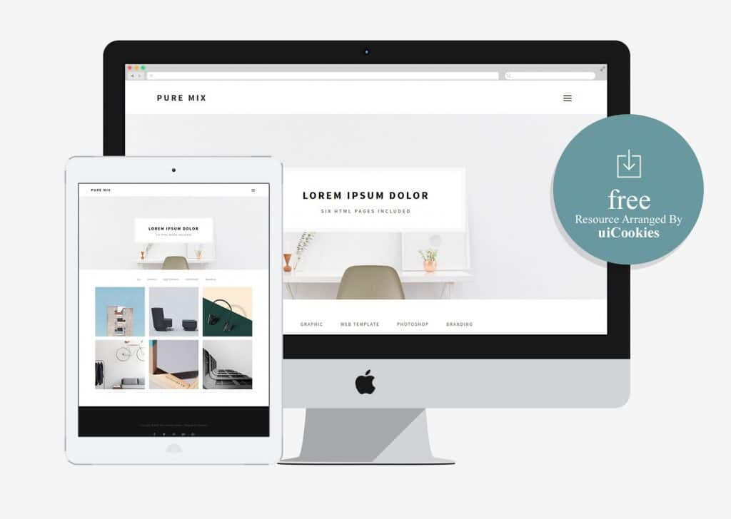 Pure Mix - Business Portfolio HTML Site Template