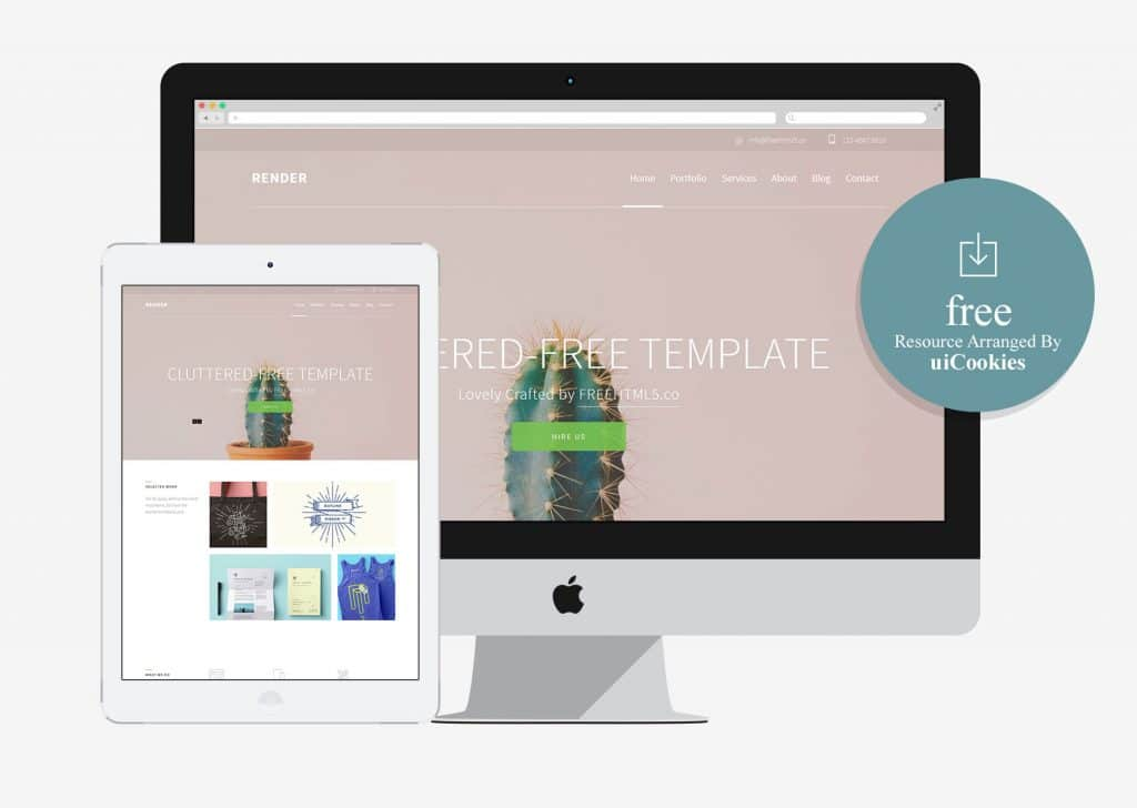 Render - Free HTML5 Bootstrap Template for Corporate Agency