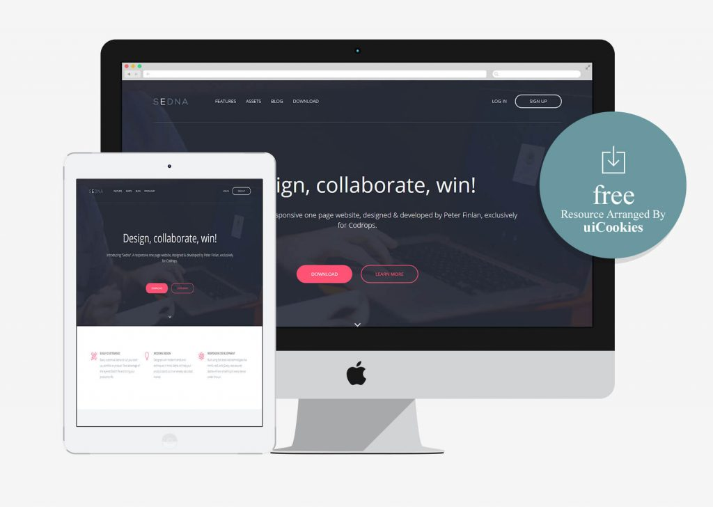 Sedna - Free Bootstrap One Page Website Template