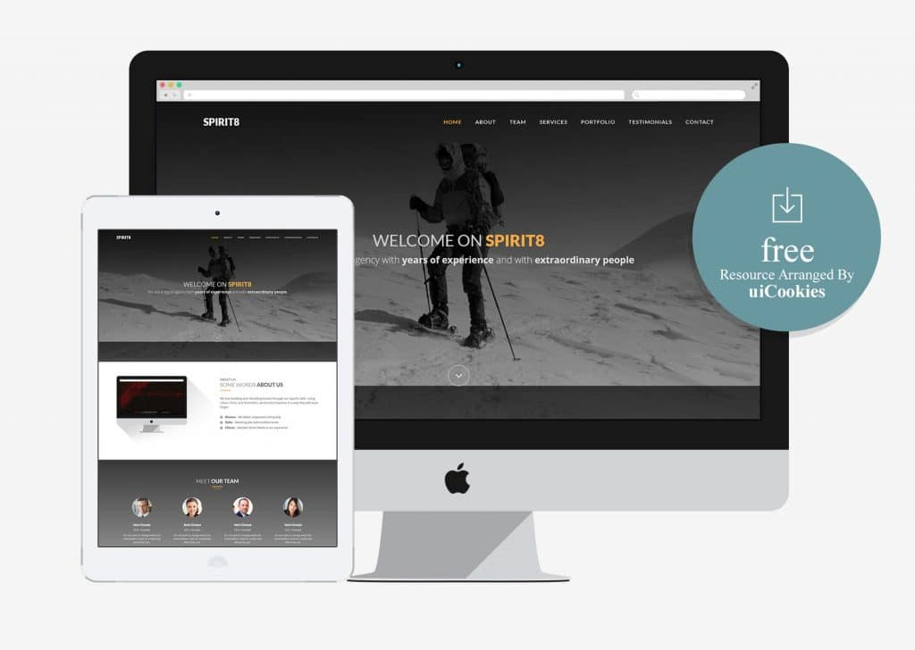 Sprit8 - Simple Bootstrap HTML5 Template