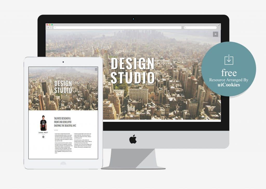 Studio – One Page Professional HTML5 Theme