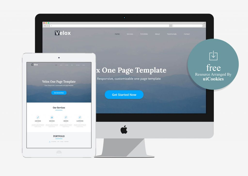 Velox – One Page Free HTML Template
