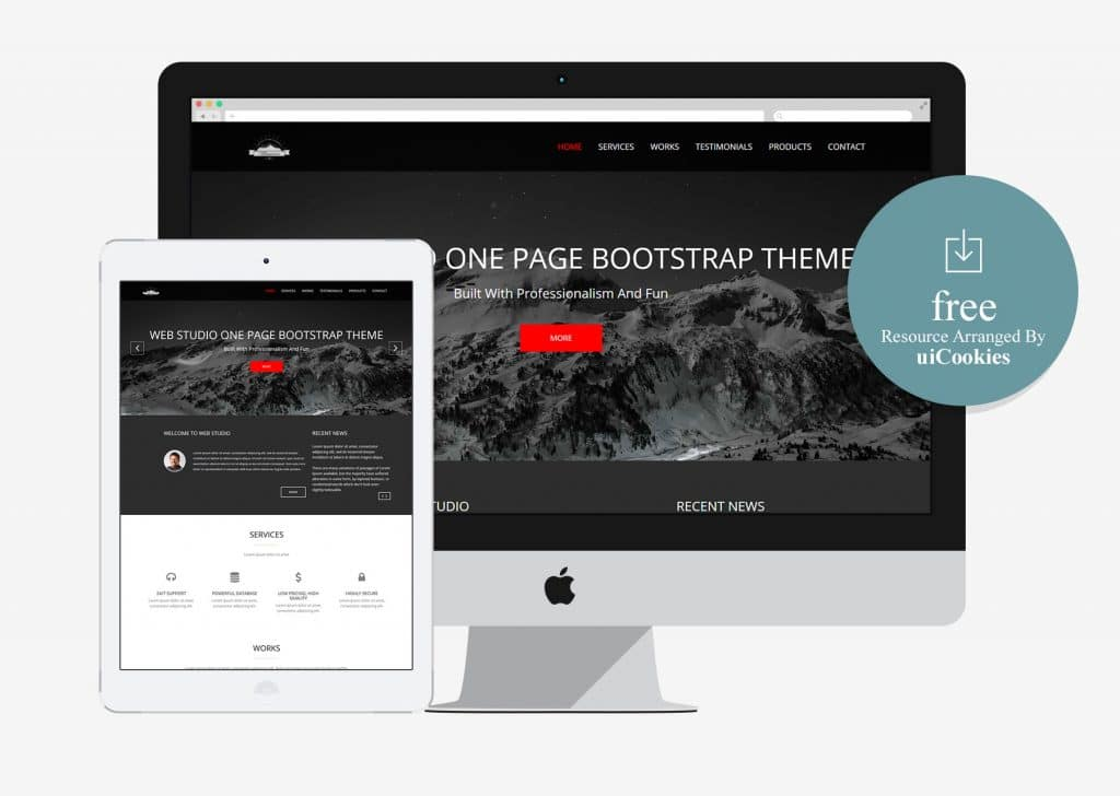 Web Studio – Best Bootstrap Corporate Theme