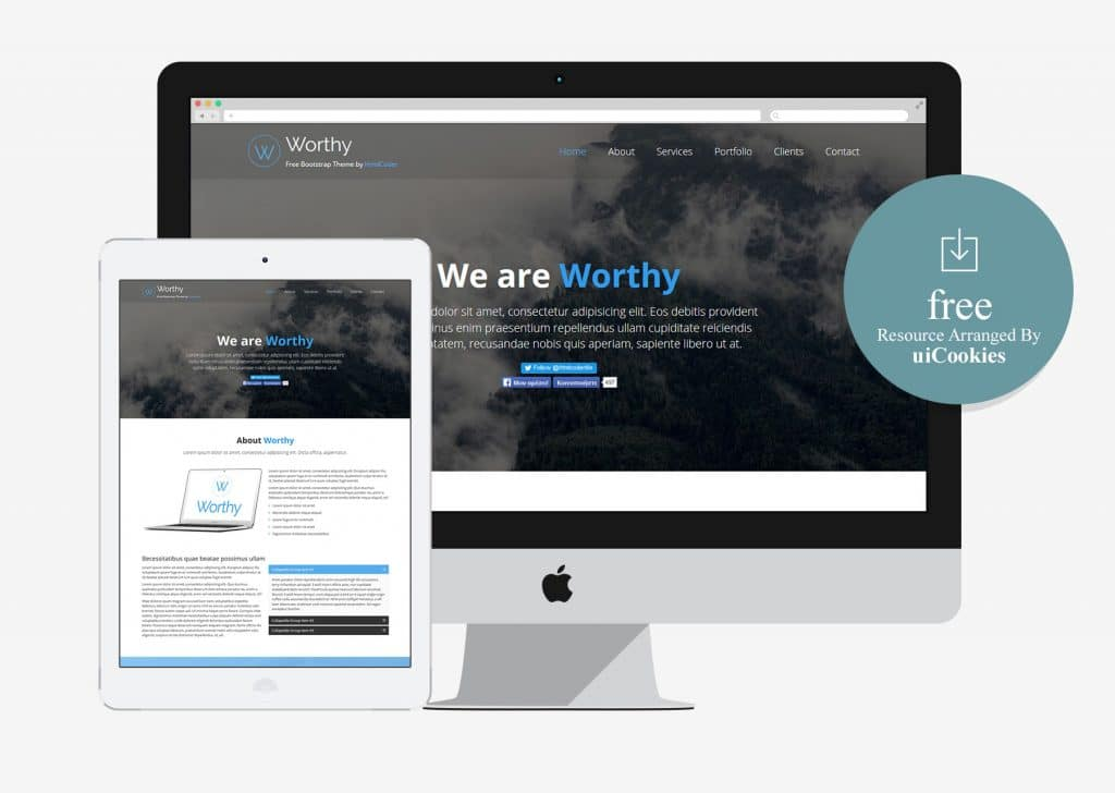 Worthy - Clean Free Bootstrap Template
