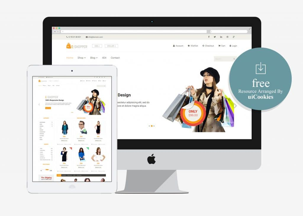 eShopper - Best Free Ecommerce HTML Template