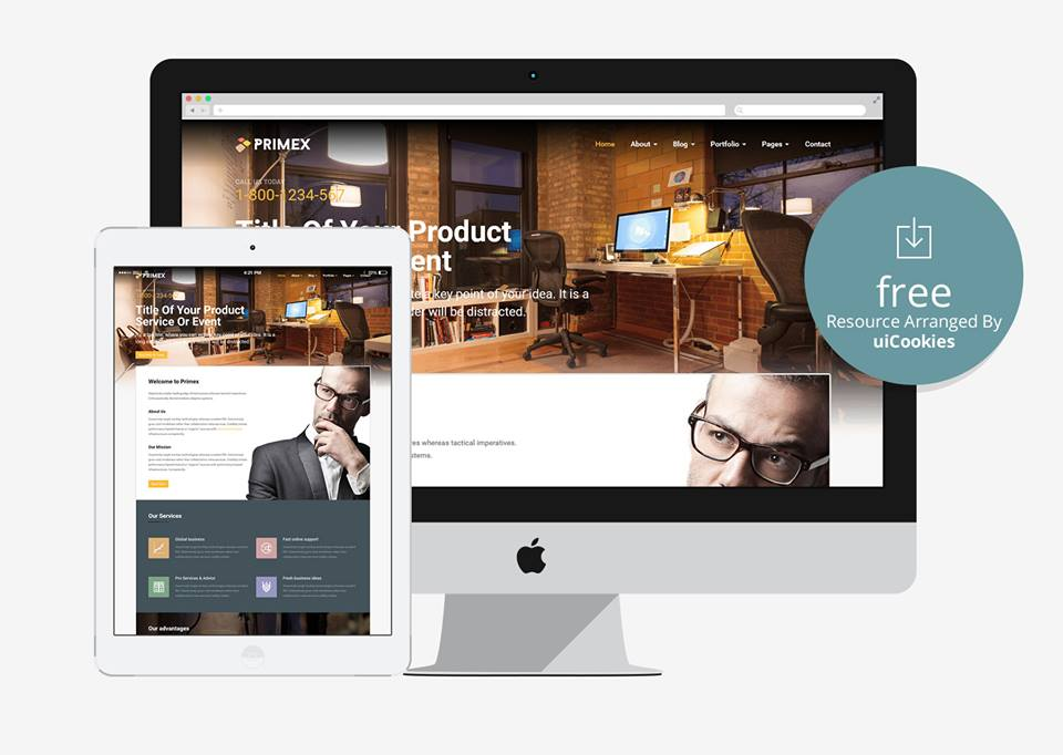 Primex Is A Neat And Clean Responsive Business Website Template Meticulously Crafted To Enhance The Actual Look Appearance Of Your