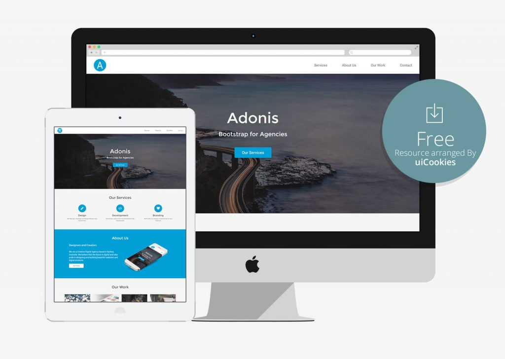 Adonis - Agency Bootstrap responsive template