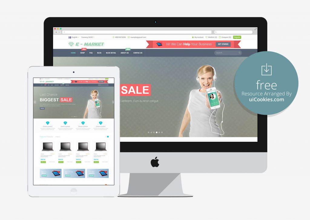 E-Market - Responsive Bootstrap eCommerce Website Theme