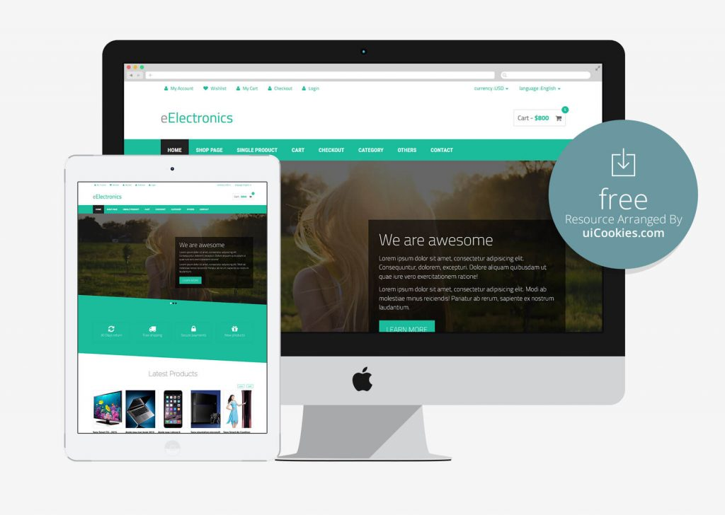 Eelectronics - Free eCommerce Bootstrap Theme