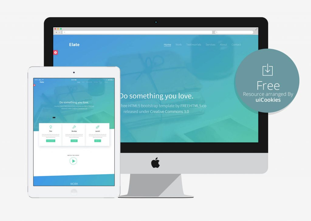 Elate - Colorful Bootstrap Responsive Template