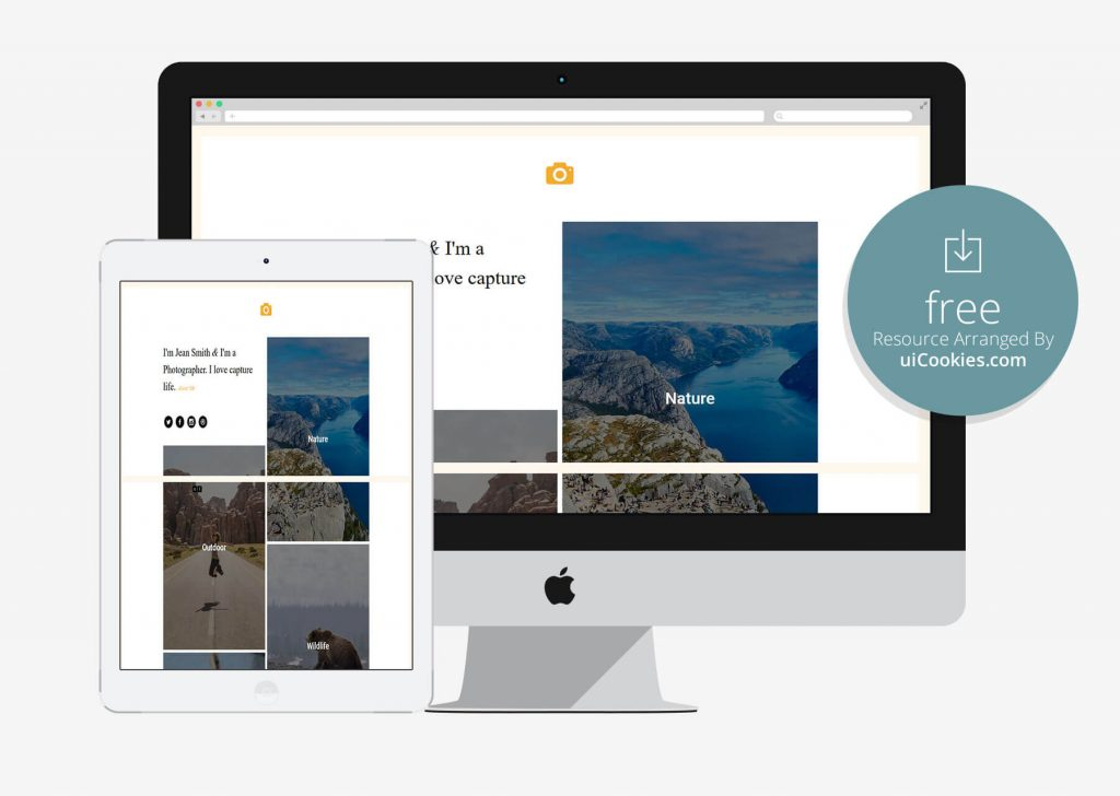 Epic - Top photography Portfolio Website Built Using Bootstrap