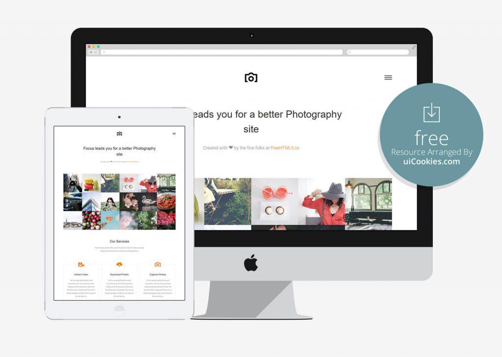 Focus - Bootstrap photographer portfolio website
