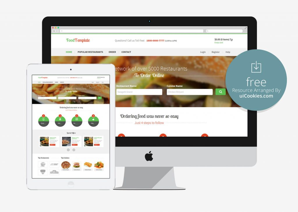 Food - Best Bootstrap Catering Website Template
