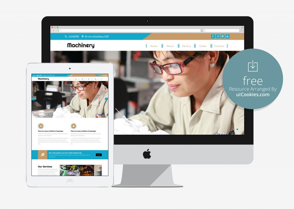 Machinary - best manufacturing website Tempalate