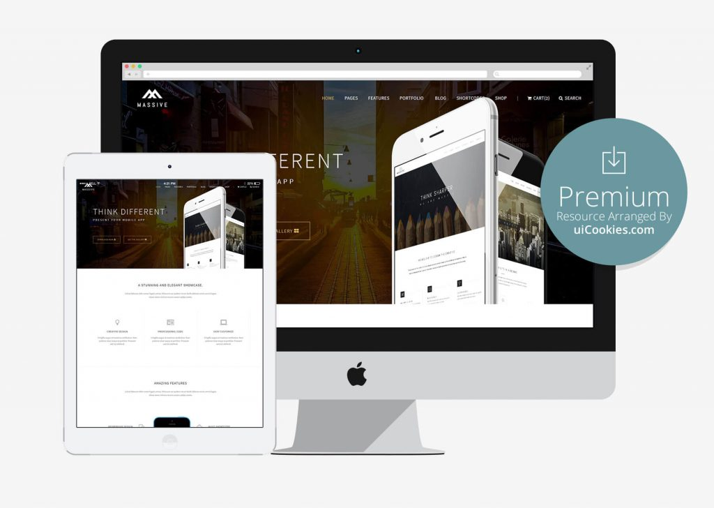 Massive - Bootstrap App Landing Page Template