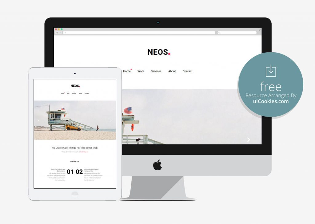 Neos - HTML5 photography template Built With Bootstrap