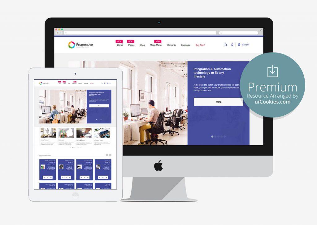 Progressive — Responsive Bootstrap eCommerce HTML5 Web Template