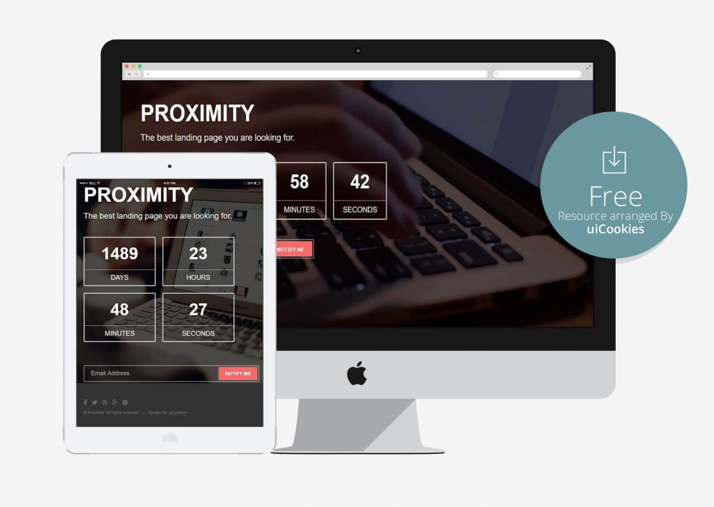 Proximity - Bootstrap Coming Soon HTML5 Template