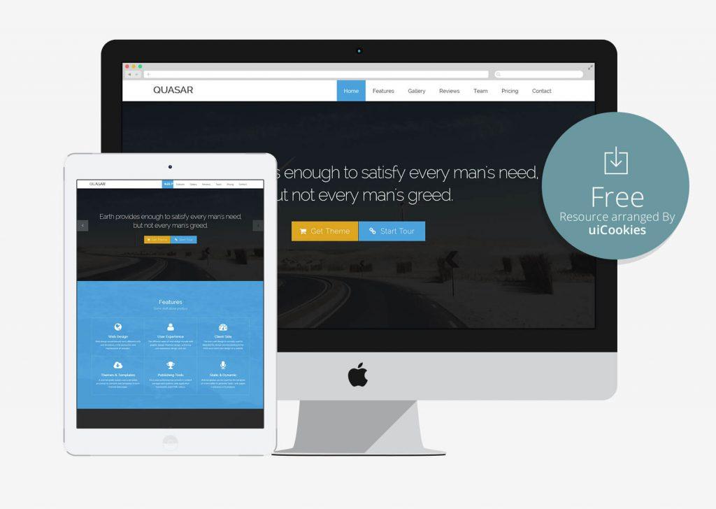 Quasar - Parallax Best HTML template