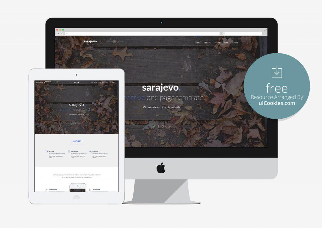 Sarajevo - Lightweight App landing HTML5 Template
